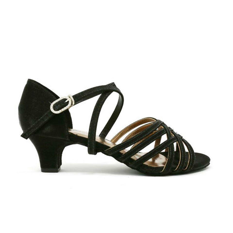 SoDanca Satin Cross Strap Ballroom Sandal BL-180