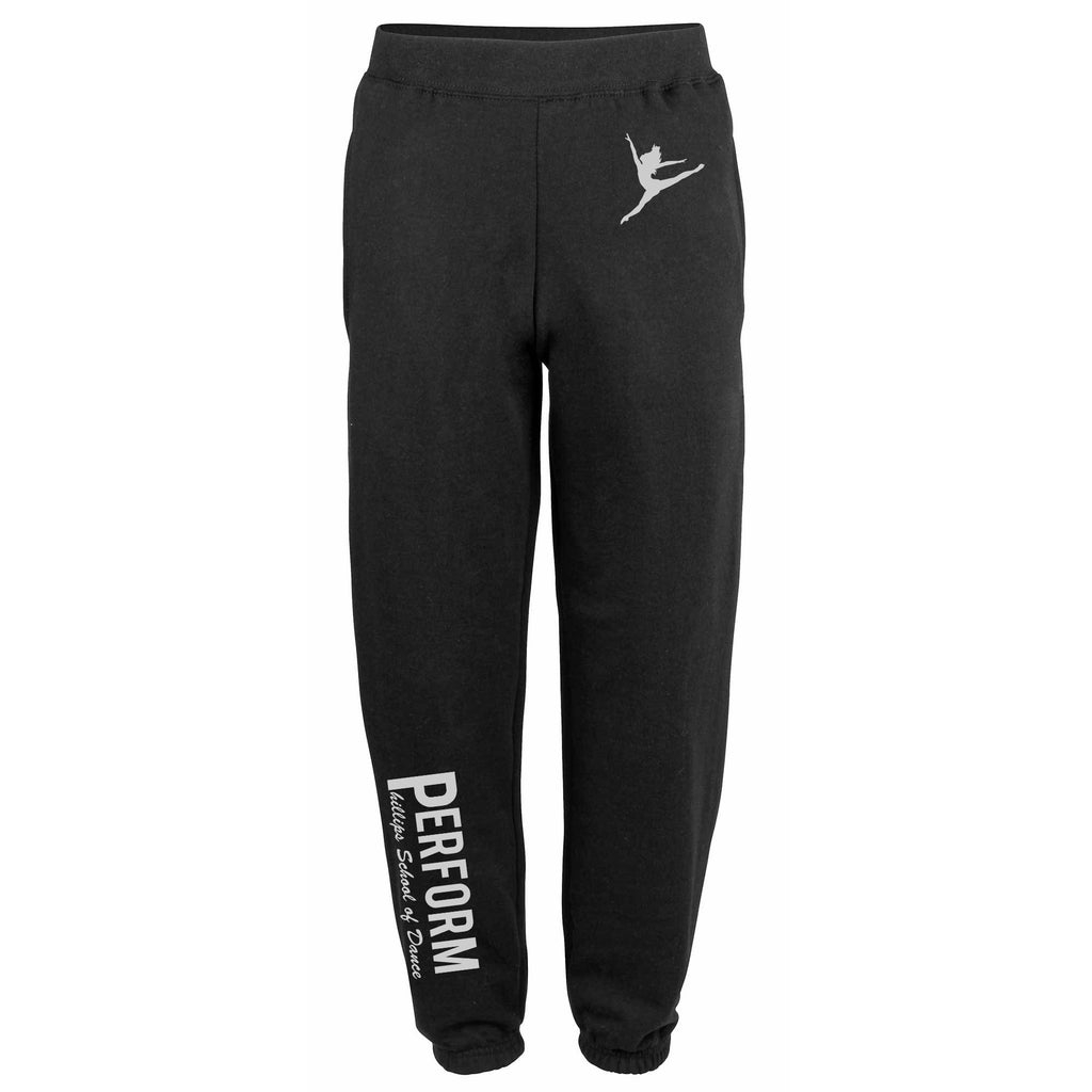 PERFORM Phillips School of Dance Black Adult's Cuffed Joggers