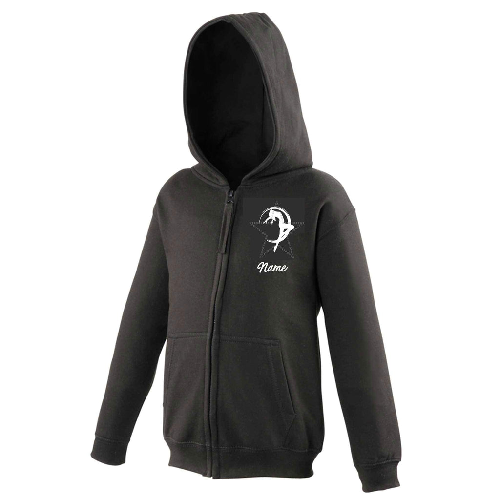 Royston's Black Children's Zipped Hoodie