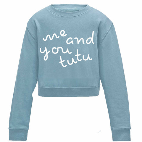 Pandr Children's Cropped Baby Blue Sweater