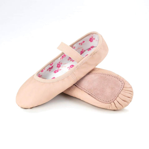 Stretch Leather Full Sole Pink Ballet Shoe SD69