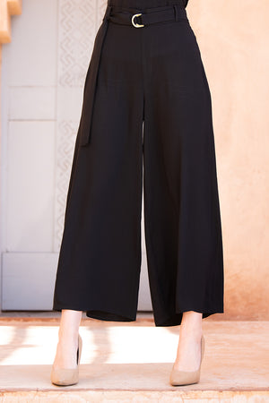 Black Culotte Trousers