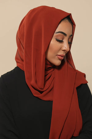 Brick Brown Everyday Chiffon Hijab