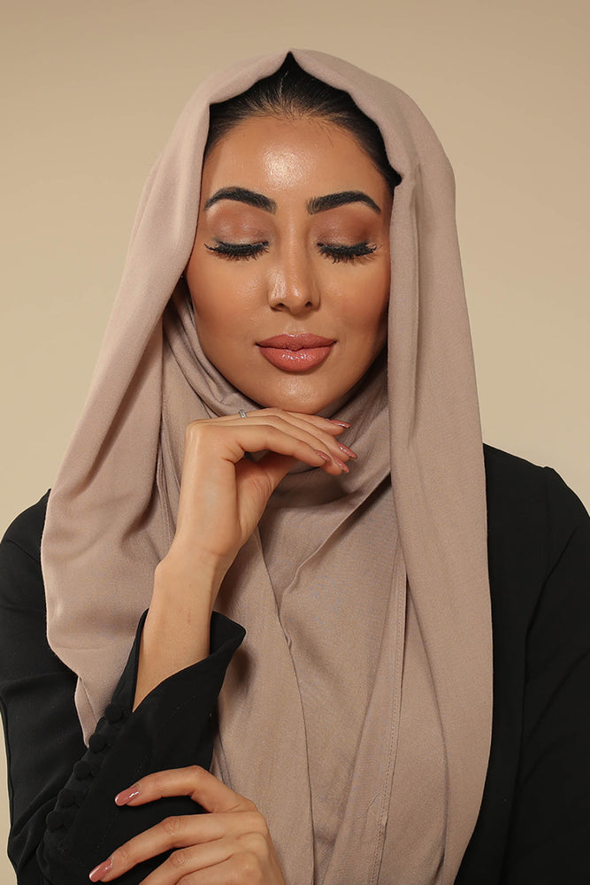 Stone Grey Viscose Hijab