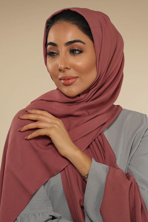 Dusty Rose Viscose Hijab