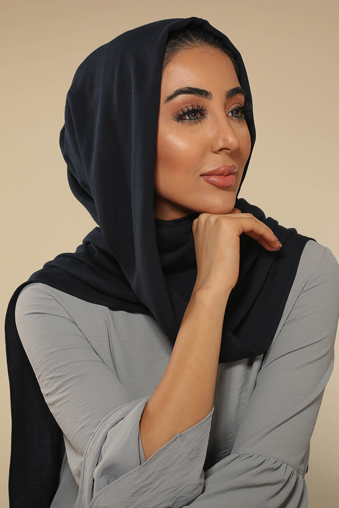 Navy Blue Viscose Hijab