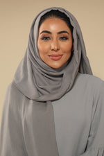 Grey Viscose Hijab