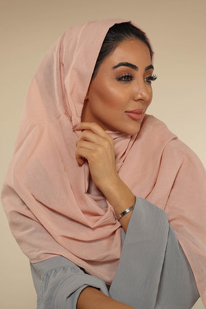 Vintage Pink Luxury Cotton Twill Hijab