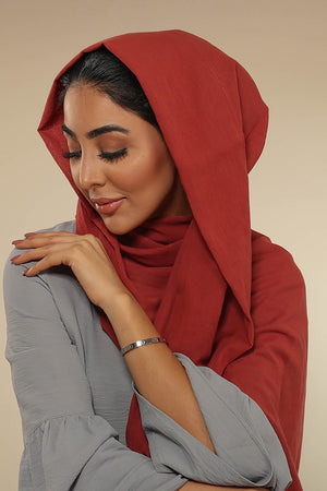 Burgundy Luxury Cotton Twill Hijab