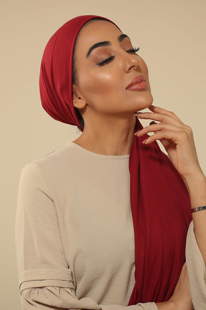 Burgundy Viscose Hijab