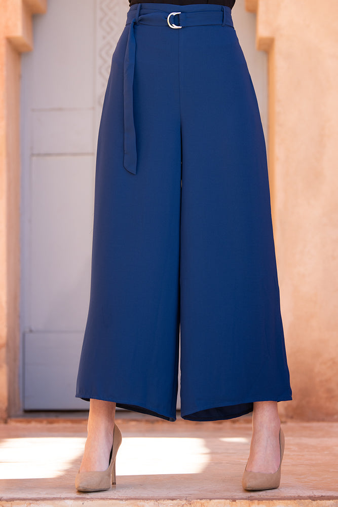 Navy Blue Culotte Trousers