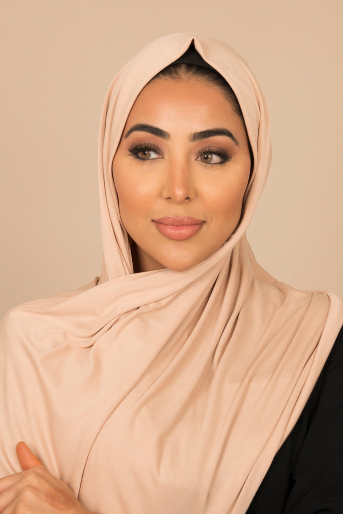 Nude Luxe Jersey Hijab