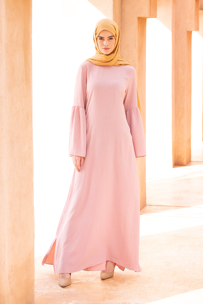 Soft Pink Slit Maxi Dress