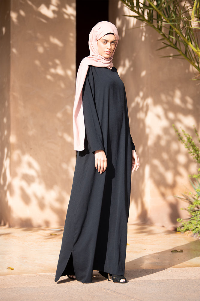 Simple Black Maxi Dress
