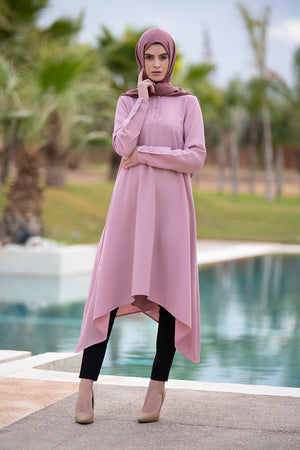 Pink Waterfall Midi Dress
