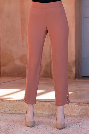 Silver Button Hazelnut Trousers
