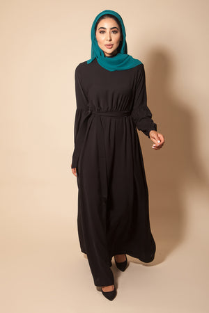 High Neck Abaya Black