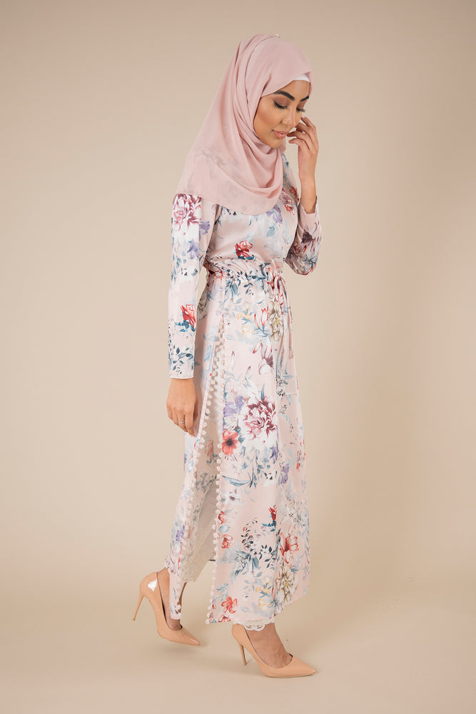 Rose High Slit Maxi
