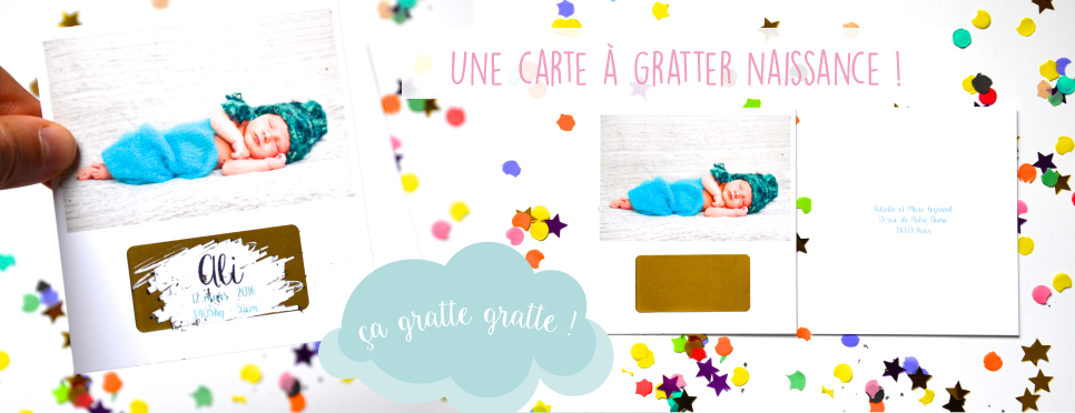 Carte a gratter personnalise
