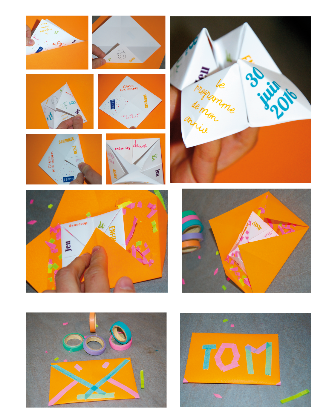 Fpm magazine tagged diy cocotte en papier faire part - Carte d anniversaire originale ...