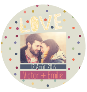 Badge Victor+Emilie - Faire Part Magnet