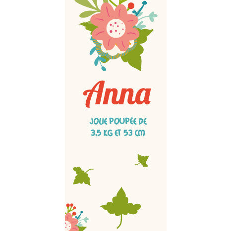 Faire-part magnet Anna