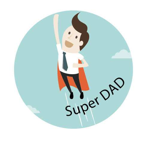 "Illustration Badge annonce grossesse ""Super dad"""