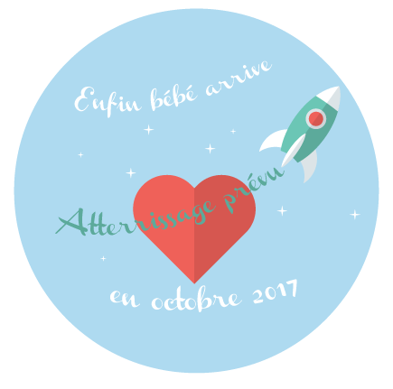 Badge bébé arrive