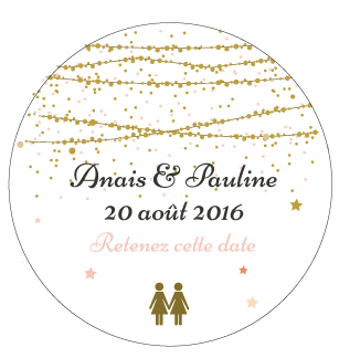 Badge Anais+Pauline - Faire Part Magnet