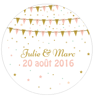 Badge Julie+Marc - Faire Part Magnet