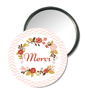 Badge miroir de poche Merci - Faire Part Magnet