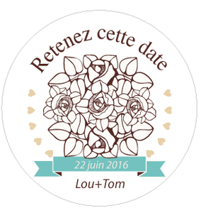Badge Lou+Tom - Faire Part Magnet