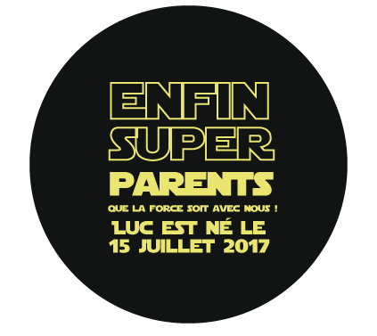 Badge annonce naissance star wars