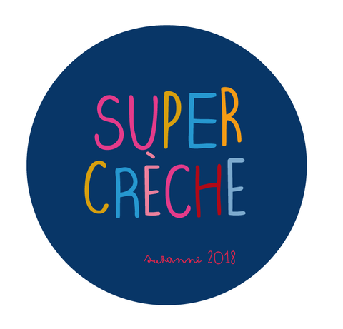Badge aimanté super crèche