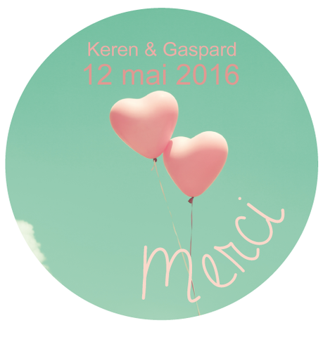Badge Keren+Gaspard - Faire Part Magnet