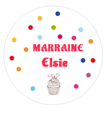 Badge cadeau marraine