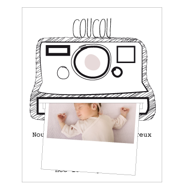 Faire-part polaroid et magnet - Faire Part Magnet  - 1