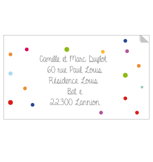 Sticker Adresse confettis - Faire Part Magnet