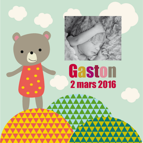 Faire-part magnet Gaston