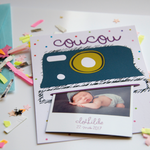 Carte polaroid + photo magnet