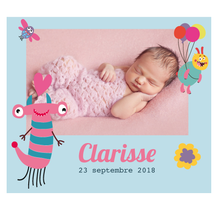 Faire-part magnetique Clarisse
