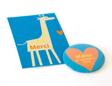 Faire-part Girafe - Faire Part Magnet  - 1