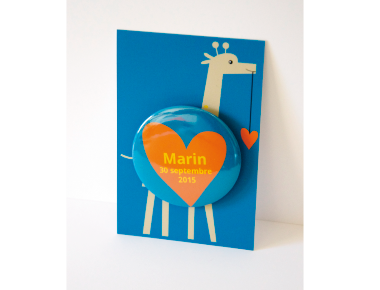 Faire-part Girafe - Faire Part Magnet  - 2