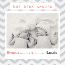 Faire-part Emma et Louis