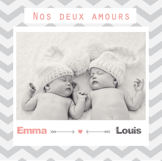Faire-part Emma et Louis - Faire Part Magnet  - 1