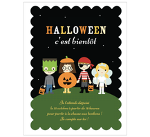 Carte halloween invitation enfant