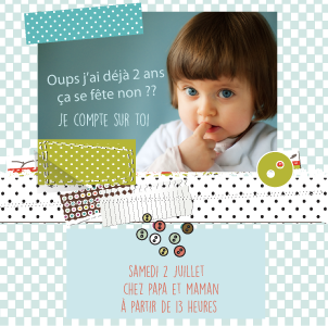 Invitation anniversaire scrap