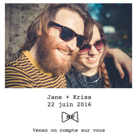 Save the date Jane+kriss - Faire Part Magnet