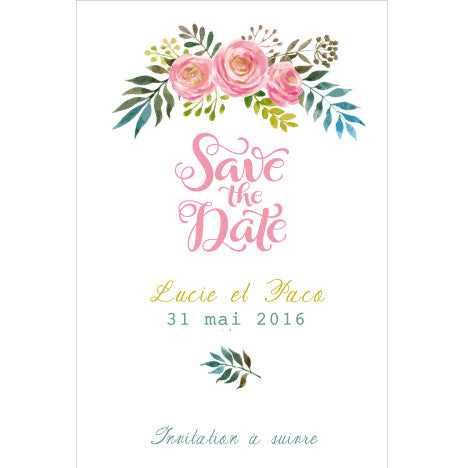 Save the date lucie+Paco