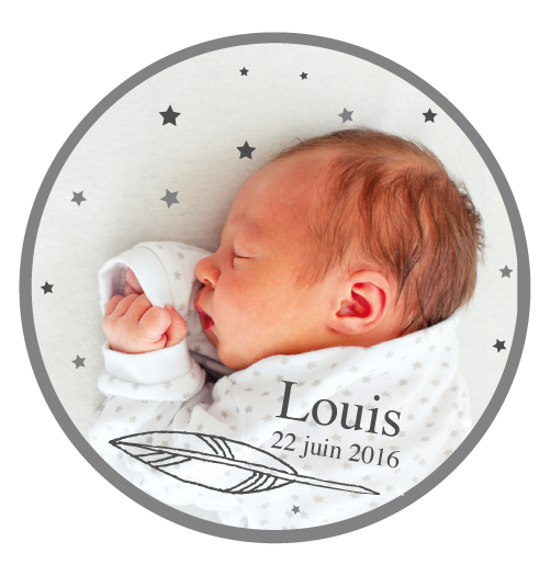 Magnet rond Louis - Faire Part Magnet
